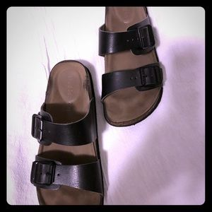 Madden Girl 2 buckle slide sandals